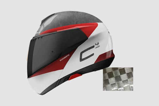 Schuberth C4 Pro Carbon: Tempest White