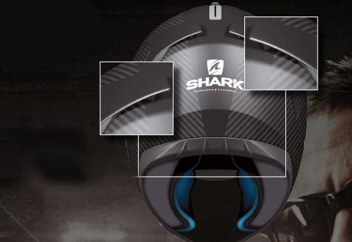 Be- und Entlüftung beim Shark Spartan Carbon